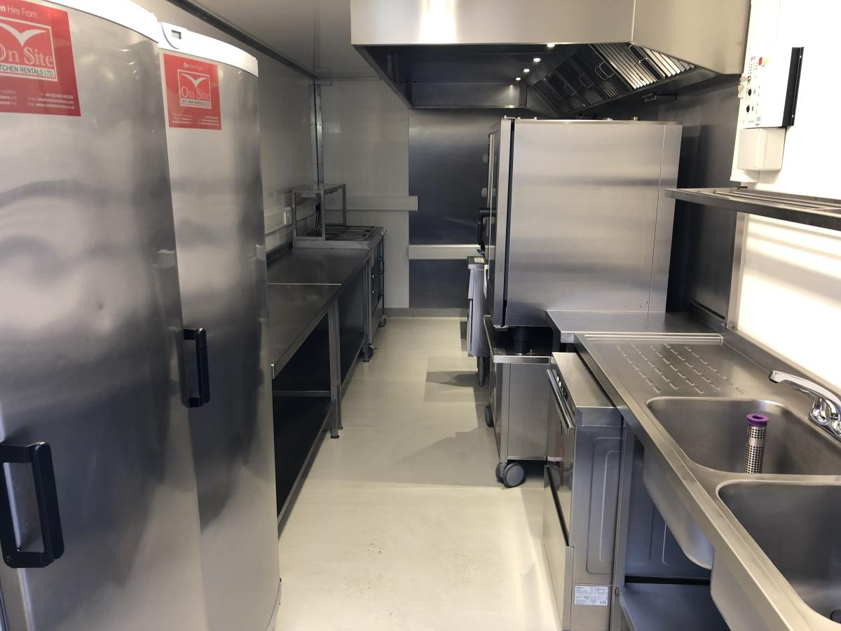 The unit can be equipped as a capable emergency or replacement kitchen during planned refurbishment.
